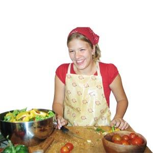 I like cooking in german