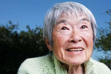 Happy chinese lady