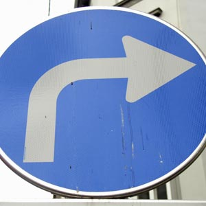 Right turn in Arabic