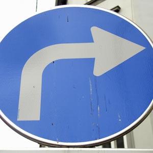 Right turn in Hindi