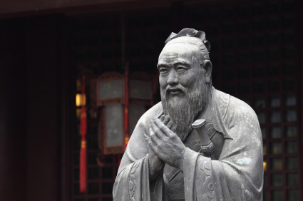 Chinese statue - Chinese salutations
