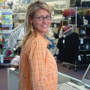Sales clerk in Arabic