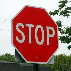 Italian stop sign