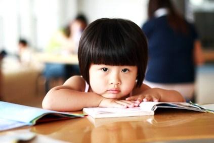 Bored Japanese girl