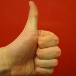 Thumbs up in Arabic