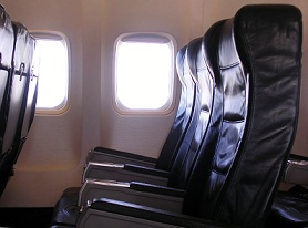 Airplane seats in Korean
