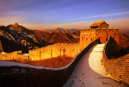 Popular tourist destination - The great wall of China